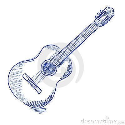 Sketched acoustic guitar
