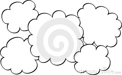 Sketched clouds graphic
