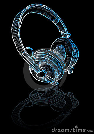 Sketched headphones