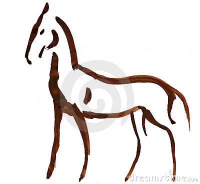 Free Sketched Horse Stock Photography - 4113062