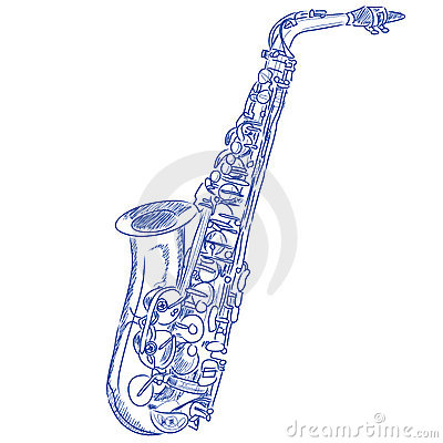 Sketched Saxophone
