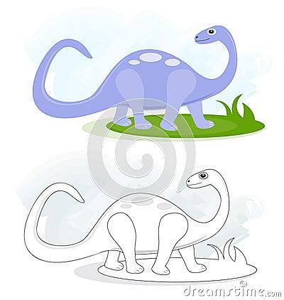 Sketches with brontosaurus dinosaur