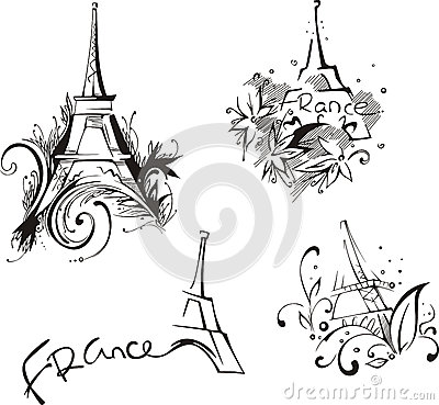 Sketches with Eiffel Tower