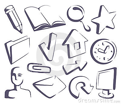 Sketches the Internet icons