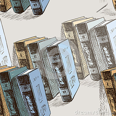 Sketches of the old printed books Vector Illustration