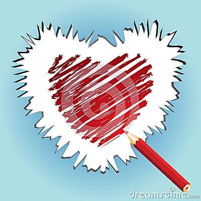 Sketching heart
