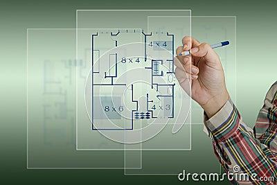 Sketching house plan