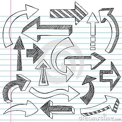 Sketchy Arrows Notebook Doodles