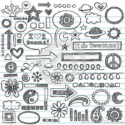 Sketchy Back to School Doodle Set Vector
