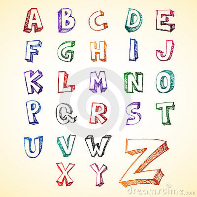 Sketchy Capital Alphabet
