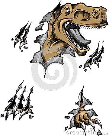 Sketchy dinosaur Vector