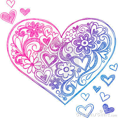 Gallery For gt Cute Heart Doodles