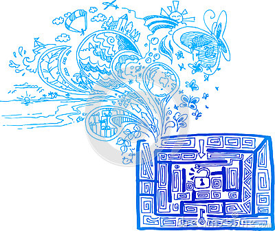 Sketchy doodle: out of the maze vector