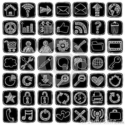 Sketchy Doodle Web Icon Computer Design Elements