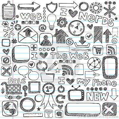 Free Sketchy Doodle Web Icon Computer Design Elements Stock Image - 24061471