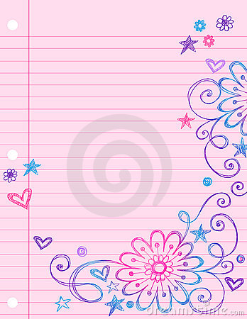 Cute notebook paper images frompo for Cute designs for paper