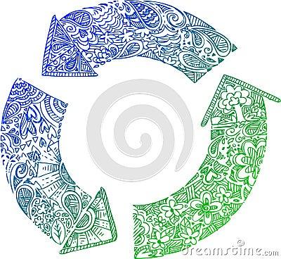 Sketchy doodles: recycle arrows