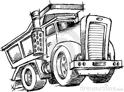 Do You Tip Tow Truck Drivers >> Sketchy Dump Truck Vector Stock Image - Image: 10241401