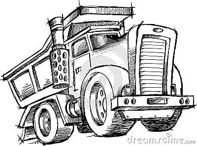 Sketchy Dump Truck Vector
