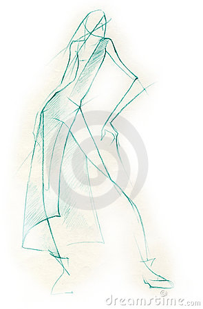 Sketchy Fashion Illustration