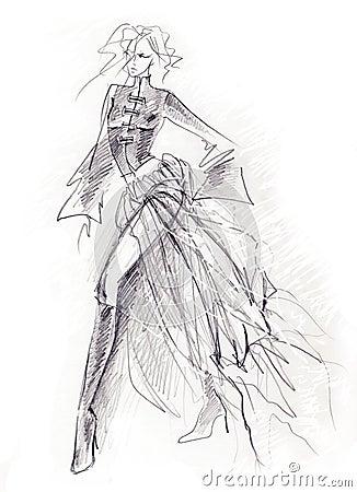 Sketchy Gothic Girl