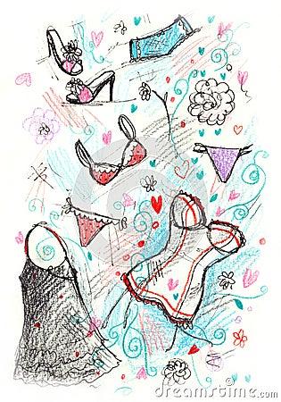 Sketchy Lingerie