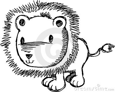 Sketchy Lion Vector Illustration Stock Photography - Image: 10399382