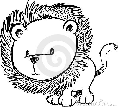 Sketchy Lion Vector Illustration