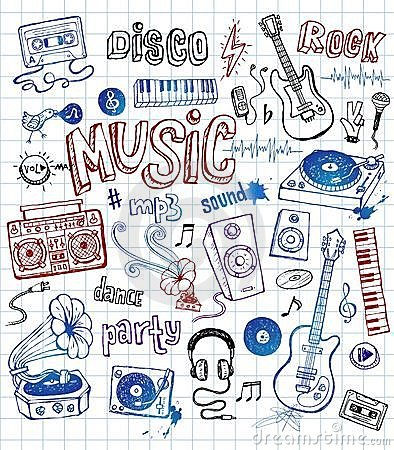 Free Sketchy Music Illustrations Royalty Free Stock Images - 10449709