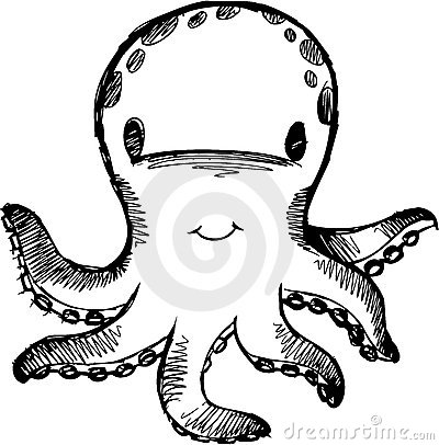 Sketchy Octopus Vector Illustration
