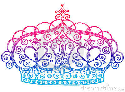 Sketchy Princess Tiara Crown Notebook Doodles Stock Photos - Image: 11904313