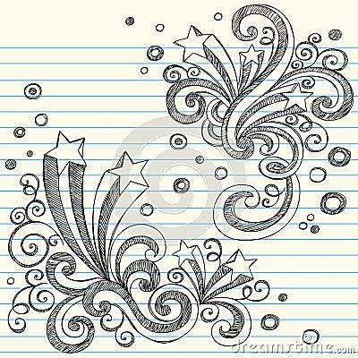 Sketchy Stars Back to School Doodle Set Vector