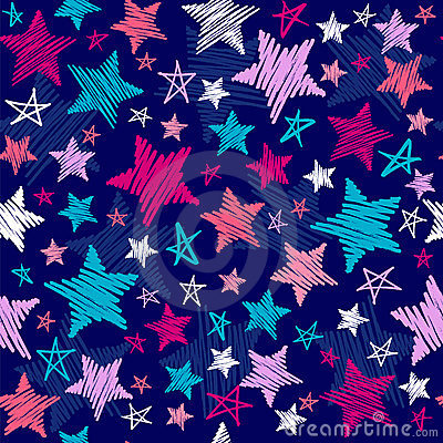 Free Sketchy Stars Pattern Stock Images - 6616834