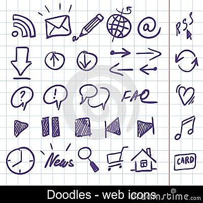 Free Sketchy Web Icons Stock Photo - 17640730