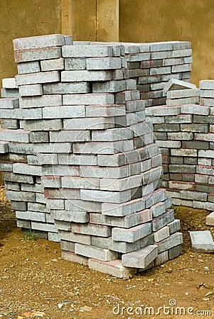 A skew stack paving tiles
