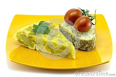 Skewer Spanish omelette