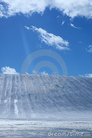 Ski area and blue sky