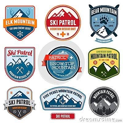 Free Ski Badges Royalty Free Stock Image - 29076036