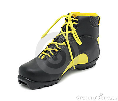 Ski boot, isolated