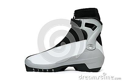 Ski boot isolated on white