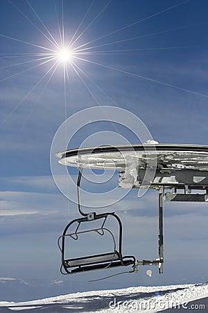 Ski chair-lift.