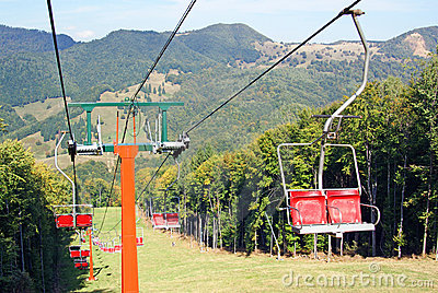 Ski chair lift for ski trail