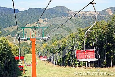 Ski chair lift for ski trail