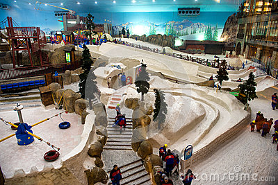 Ski Dubai is an indoor ski resort Editorial Stock Image