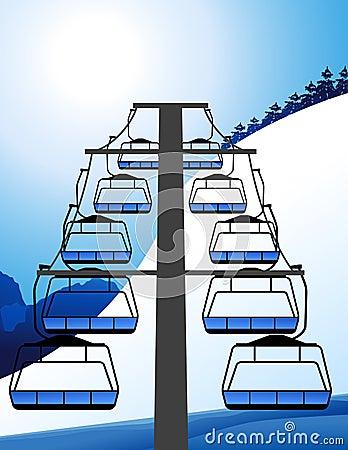 Ski elevator