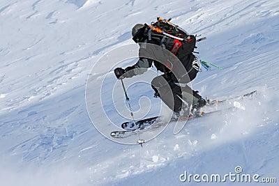 Ski free riding