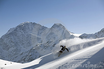 Ski freeride and powder turn