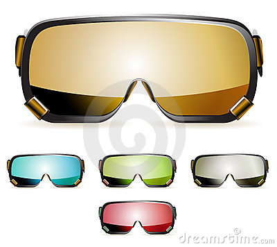 Free Ski Goggles Royalty Free Stock Photo - 17462445