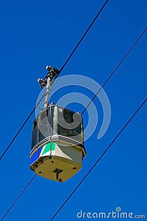 Ski Gondola with blue sky