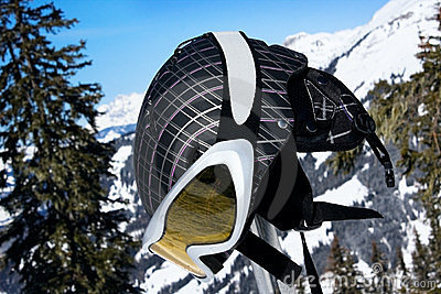 Ski helmet with sport glasses
